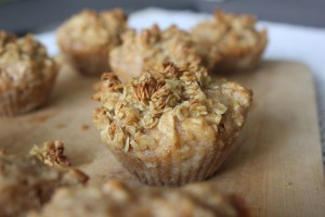 Müsli Muffin mit Apfelfüllung
